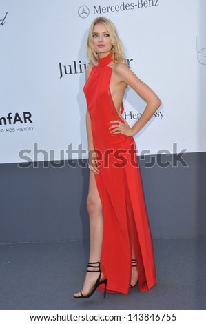 CANNES, FRANCE - MAY 23, 2013: Lily Donaldson at amfAR's 20th Cinema Against AIDS Gala at the Hotel du Cap d'Antibes, France  - stock photo
