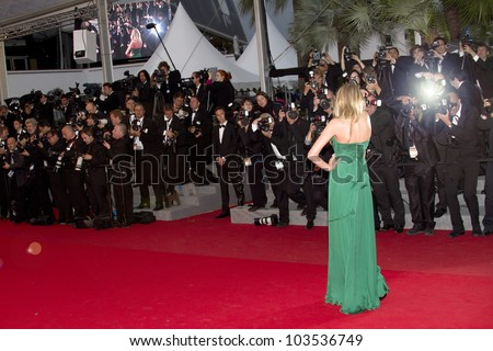 CANNES, FRANCE - MAY 25: Lily Donaldson attends the 'Cosmopolis' Premiere during the 65th Cannes Film Festival at Palais des Festivals on May 25, 2012 in Cannes, France - stock photo