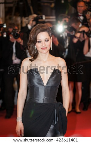 Cannes, France - 19 MAY 2016 - Marion Cotillard attends the 'It's Only The End Of The World (Juste La Fin Du Monde)' Premiere during the 69th annual Cannes Film Festival - stock photo