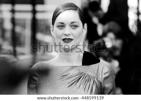 CANNES, FRANCE - MAY 15: Marion Cotillard attends the premiere of 'From The Land Of The Moon' during the 69th Cannes Film Festival on May 15, 2016 in Cannes, France. - stock photo