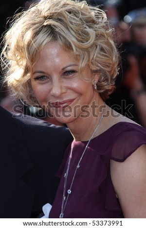 CANNES, FRANCE - MAY 17: Meg Ryan attends the premiere of 'Countdown To Zero' held at the Palais des Festivals during the 63rd  Cannes Film Festival on May 17, 2010 in Cannes, France. - stock photo