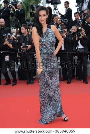 "CANNES, FRANCE - MAY 19, 2015: Megan Gale at the gala premiere for ""Sicario"" at the 68th Festival de Cannes."