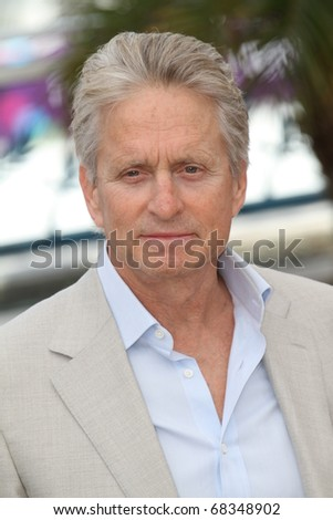CANNES, FRANCE - MAY 14: Michael Douglas attends the 'Wall Street: Money Never Sleeps' Photo Call held at the Palais des Festivals during the 63rd Cannes  Festival on May 14, 2010 in Cannes, France - stock photo