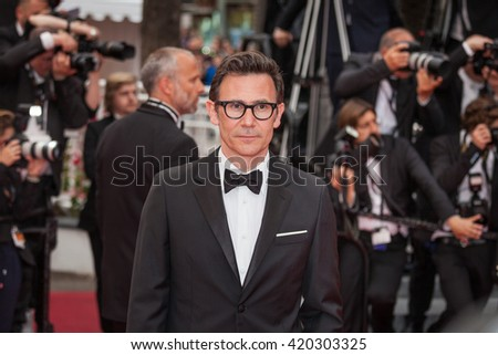 Cannes, France - 14 MAY 2016 - Michel Hazanavicius attends 'The BFG (Le Bon Gros Geant - Le BGG)' premiere during the 69th annual Cannes Film Festival - stock photo