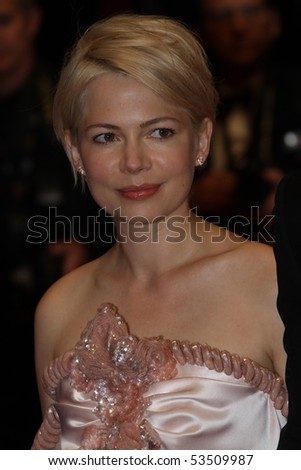 CANNES, FRANCE - MAY 18: Michelle Williams attends the 'Certified Copy' Premiere at the Palais des Festivals during the 63rd Annual Cannes Film Festival on May 18, 2010 in Cannes, France - stock photo