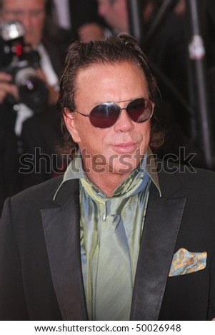 CANNES, FRANCE - MAY 24: Mickey Rourke attends the premiere for the film 'Ocean's Thirteen' at the Palais des Festivals during the 60th Cannes Film Festival on May 24, 2007 in Cannes, France