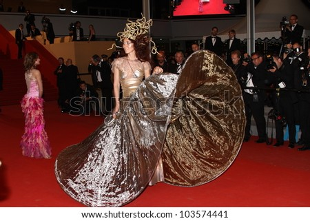 CANNES, FRANCE - MAY 26: Model attends the 'Maniac' Premiere - 65th Annual Cannes Film Festival at Palais des Festivals on May 26, 2012 in Cannes, France. - stock photo