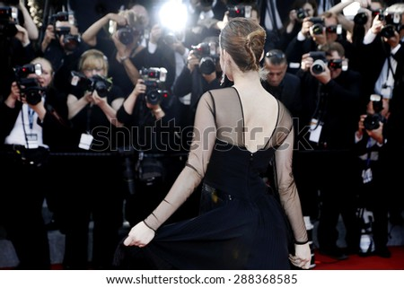 CANNES, FRANCE- MAY 20: Model Barbara Palvin attends the 'Youth' premiere during the 68th Cannes Film Festival on May 20, 2015 in Cannes, France. - stock photo