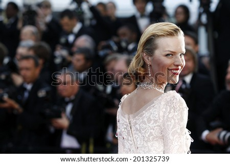 CANNES, FRANCE - MAY 16: Model Eva Herzigova attends the Opening Ceremony premiere during the 65th Cannes Film Festival on May 16, 2012 in Cannes, France. - stock photo