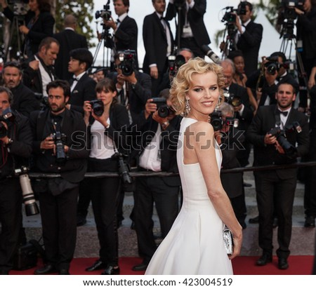 Cannes, France - 18 MAY 2016 - Model Eva Herzigova attends 'The Unknown Girl (La Fille Inconnue)' Premiere during the 69th annual Cannes Film Festival - stock photo