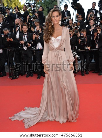 "CANNES, FRANCE - MAY 17, 2016: Model Izabel Goulart at the gala premiere of Pedro Almodovar's ""Julieta"" at the 69th Festival de Cannes."