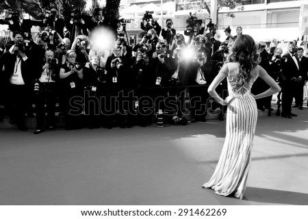 CANNES, FRANCE- MAY 20: Model Izabel Goulart attends the 'Youth' Premiere during the 68th Cannes Film Festival on May 20, 2015 in Cannes, France. - stock photo