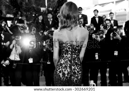 CANNES, FRANCE- MAY 22: Model Jourdan Dunn attends the 'Little Prince' Premiere during the 68th Cannes Film Festival on May 22, 2015 in Cannes, France. - stock photo