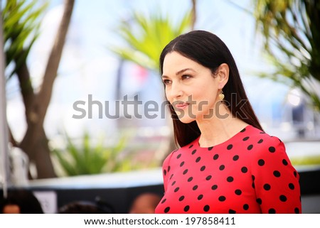 CANNES, FRANCE - MAY 18: Monica Bellucci attends 'The Wonders' photocall at the 67th Annual Cannes Film Festival on May 18, 2014 in Cannes, France.  - stock photo