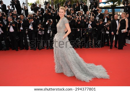CANNES, FRANCE - MAY 13, 2015: Naomi Watts at the gala opening ceremony of the 68th Festival de Cannes. - stock photo