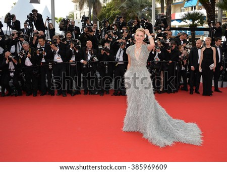 CANNES, FRANCE - MAY 13, 2015: Naomi Watts at the gala opening ceremony of the 68th Festival de Cannes.