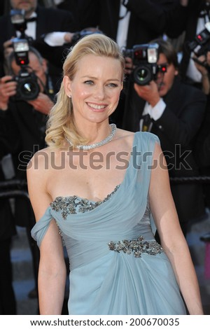 "CANNES, FRANCE - MAY 16, 2014: Naomi Watts at the gala premiere of ""How To Train Your Dragon 2"" at the 67th Festival de Cannes.  - stock photo"