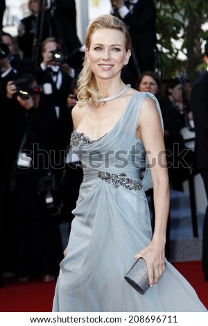 CANNES, FRANCE - MAY 16: Naomi Watts attends the 'Dragon 2' premiere during the 67th Cannes Film Festival on May 16, 2014 in Cannes, France. - stock photo