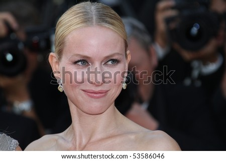 CANNES, FRANCE - MAY 20: Naomi Watts attends the 'Fair Game' Premiere held at the Palais des Festivals during the 63rd  Cannes Film Festival on May 20, 2010 in Cannes, France. - stock photo