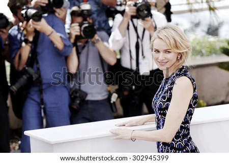 CANNES, FRANCE- MAY 16: Naomi Watts attends the 'The Sea of Trees' photo-call during the 68th Cannes Film Festival on May 16, 2015 in Cannes, France. - stock photo