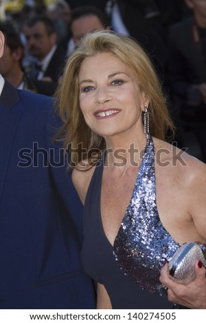 CANNES, FRANCE - MAY 26: Nicole Calfan  attends the Premiere of 'Zulu' and the Closing Ceremony of The 66th  Cannes Film Festival at Palais on May 26, 2013 in Cannes, France. - stock photo