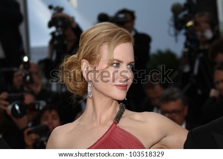 CANNES, FRANCE - MAY 24: Nicole Kidman attends the 'The Paperboy' premiere during the 65th Annual Cannes Film Festival at Palais des Festivals on May 24, 2012 in Cannes, France - stock photo