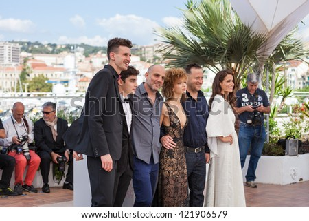 "Cannes, France - 15 MAY 2016 - Noam Imber, Yoav Rotman, Kolirin, Mili Eshet, Alon Pdut and Shiree Nadav-Naor attend ""Beyond The Mountains And Hills"" Photocall during The 69 Annual Cannes Film Festival"