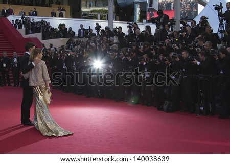 CANNES, FRANCE - MAY 24: Olivia Palermo attends the premiere of 'The Immigrant' at The 66th Annual Cannes Film Festival on May 24, 2013 in Cannes, France - stock photo