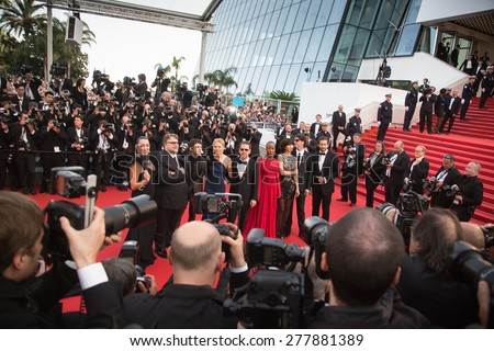 CANNES, FRANCE - MAY 13: Opening Ceremony 'La Tete Haute' Premiere. 68th Annual Cannes Film Festival at Palais des Festivals on May 13, 2015 in Cannes, France. - stock photo