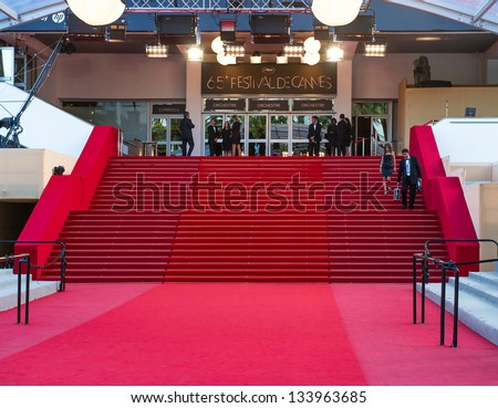 CANNES, FRANCE - MAY 23, 2012: Palais des Festivals during the 65th Annual Cannes Film Festival on May 23, 2012 in Cannes, France - stock photo
