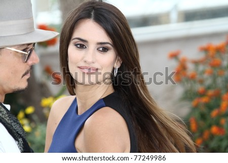 CANNES, FRANCE - MAY 14: Penelope Cruz attends the 'Pirates of the Caribbean: On Stranger Tides' Photocall during the 64thh Cannes  Festival at Palais des Festivals on May 14, 2011 in Cannes, France - stock photo
