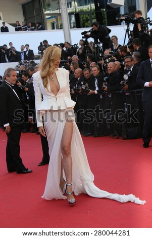 CANNES, FRANCE - MAY 20, 2015: Petra Nemcova attends the 'Youth' Premiere during the 68th annual Cannes Film Festival on May 20, 2015 in Cannes, France. - stock photo