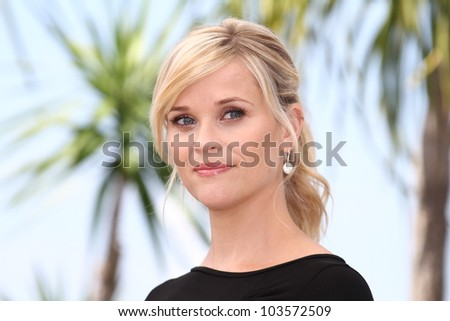CANNES, FRANCE - MAY 26: Reese Witherspoon attends 'Mud' Photocall during the 65th Annual Cannes Film Festival at Palais des Festivals on May 26, 2012 in Cannes, France. - stock photo