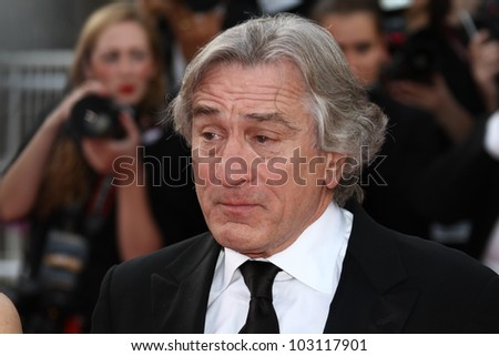 CANNES, FRANCE - MAY 18: Robert de Niro attends the 'Once Upon A Time' Premiere during 65th Annual Cannes Film Festival during at Palais des Festivals on May 18, 2012 in Cannes, France.