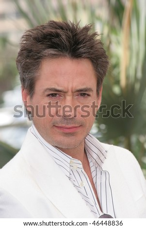 CANNES, FRANCE - MAY 25:  Robert Downey Jr. attends a photocall promoting the  'A Scanner Darkly' at the Palais des Festivals during the 59th  Cannes Film Festival on May 25, 2006 in Cannes, France. - stock photo