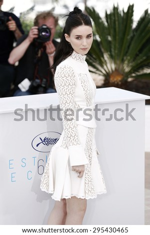 CANNES, FRANCE- MAY 17: Rooney Mara attends the 'Carol' Photo-call during the 68th Cannes Film Festival on May 17, 2015 in Cannes, France. - stock photo