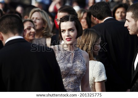 CANNES, FRANCE - MAY 23: Roxane Mesquida attends the 'On The Road' Premiere during the 65th Cannes Film Festival on May 23, 2012 in Cannes, France - stock photo