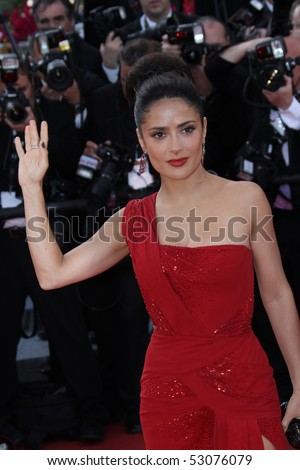 CANNES, FRANCE - MAY 14: Salma Hayek   attends the  'Wall Street: Money Never Sleeps' held at the Palais during the 63rd   Cannes Film Festival on May 14, 2010 in Cannes, France. - stock photo