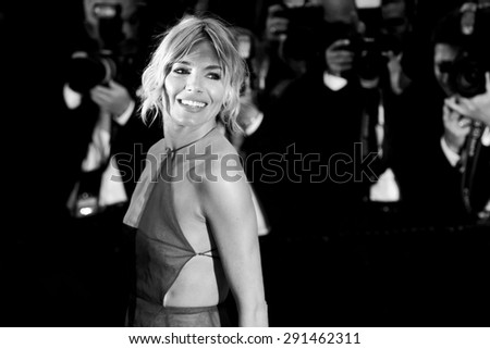 CANNES, FRANCE- MAY 16: Sienna Miller attends the Premiere of 'The Sea Of Trees' during the 68th Cannes Film Festival on May 16, 2015 in Cannes, France. - stock photo