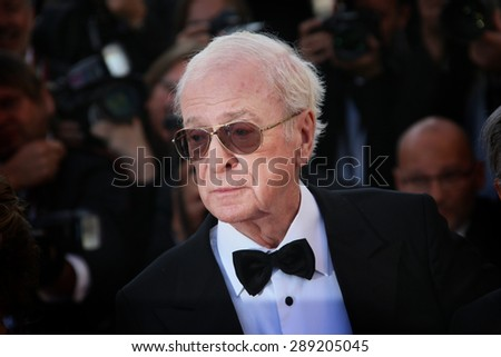 CANNES, FRANCE - MAY 20, 2015: Sir Michael Caine  attends the 'Youth' Premiere during the 68th annual Cannes Film Festival on May 20, 2015 in Cannes, France. - stock photo