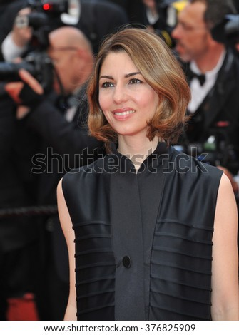 "CANNES, FRANCE - MAY 17, 2014: Sofia Coppola at gala premiere of ""Saint-Laurent"" at the 67th Festival de Cannes."