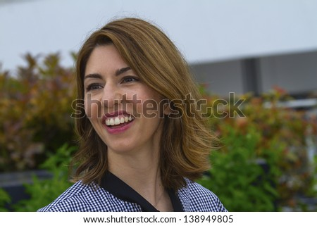 CANNES, FRANCE - MAY 16: Sofia Coppola attends 'The Bling Ring' photocall during the 66th  Cannes Film Festival at Palais des Festival on May 16, 2013 in Cannes, France. - stock photo