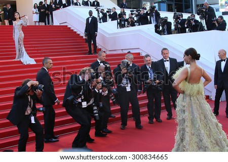 CANNES, FRANCE - MAY 18: Sonam Kapoor attends the Premiere of 'Inside Out' during the 68th annual Cannes Film Festival on May 18, 2015 in Cannes, France. - stock photo