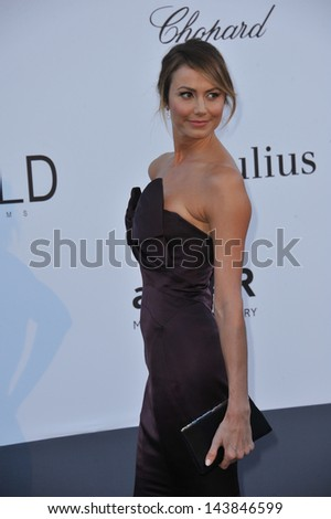 CANNES, FRANCE - MAY 23, 2013: Stacy Keibler at amfAR's 20th Cinema Against AIDS Gala at the Hotel du Cap d'Antibes, France  - stock photo