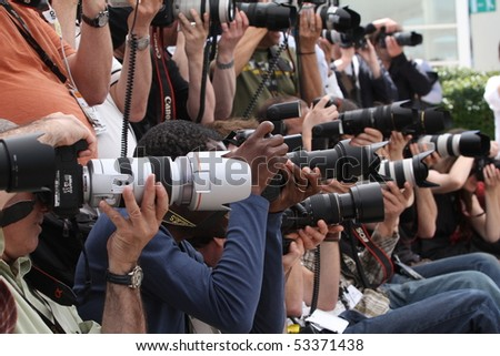 CANNES, FRANCE - MAY 17:The photographers  attends the  Photo Call held at the Palais des Festivals during the 63rd  Cannes Film Festival on May 17, 2010 in Cannes, France - stock photo