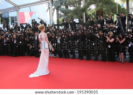 CANNES, FRANCE - MAY 24: Uma Thurman attends the Closing Ceremony and 'A Fistful of Dollars' Screening during the 67th Cannes Film Festival on May 24, 2014 in Cannes, France. - stock photo
