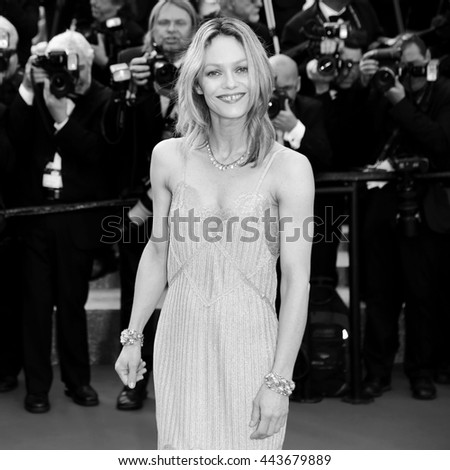 CANNES, FRANCE - MAY 18: Vanessa Paradis attends 'The Unknown Girl' Premiere during the 69th Cannes Film Festival on May 18, 2016 in Cannes, France. - stock photo