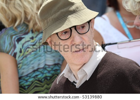 CANNES, FRANCE - MAY 15:  Woody Allen  attends the 'You Will Meet A Tall Dark Stranger' Photocall held at the Palais des Festivals during the 63  Cannes Film Festival on May 15, 2010 in Cannes, France - stock photo