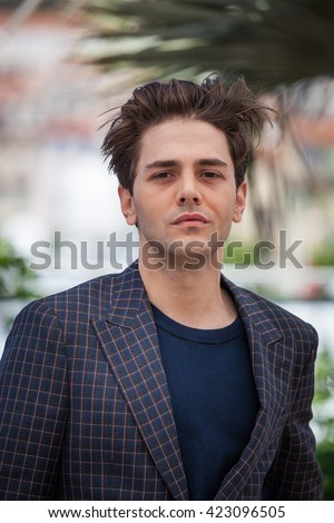 Cannes, France - 19 MAY 2016 - Xavier Dolan attends the 'It's Only The End Of The World (Juste La Fin Du Monde)' Photocall during the 69th annual Cannes Film Festival - stock photo