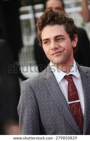 CANNES, FRANCE - MAY 19:  Xavier Dolan attends the 'Sicario' premiere during the 68th annual Cannes Film Festival on May 19, 2015 in Cannes, France - stock photo